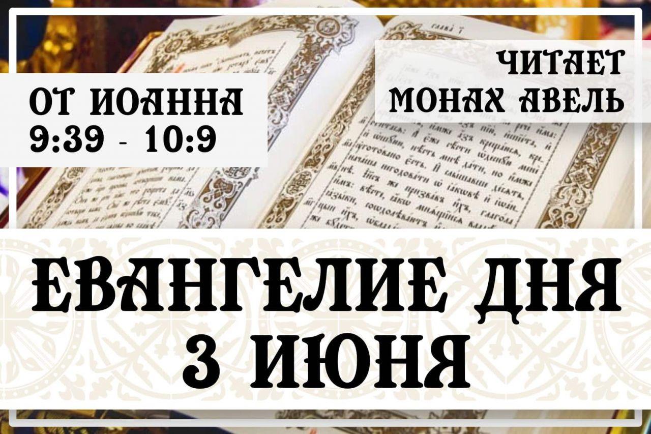 Евангелие дня / 3 июня 2021 / Ин.9:39 - 10:9
