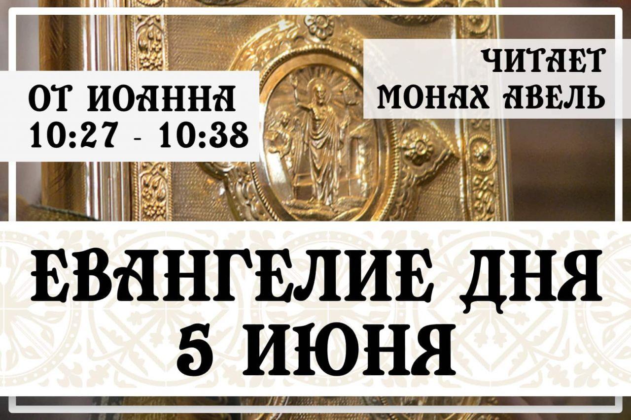 Евангелие дня / 5 июня 2021 / Ин.10:27 - 10:38